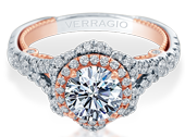 Insignia INS-7088R-2WR Diamond Engagement Ring Semi-Mount 0.95 ctw.