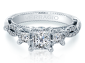 Venetian AFN-5079P Diamond Engagement Semi-Mount 0.80ctw.