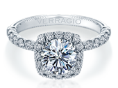 Renaissance V-954-CU1.8 Diamond Engagement Ring Semi-Mount 0.55 ctw.