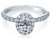 Renaissance V-954-OV1.8 Diamond Engagement Ring Semi-Mount 0.55 ctw.