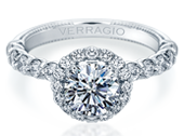 Renaissance V-954-R2.4 Diamond Engagement Ring Semi-Mount 0.95 ctw.