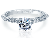 Renaissance V-955-R1.7 Diamond Engagement Ring Semi-Mount 0.35 ctw.