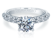 Renaissance V-955-R2.7 Diamond Engagement Ring Semi-Mount 0.80 ctw.