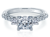 Renaissance V-956-P2.2 Diamond Engagement Ring Semi-Mount 0.70 ctw.