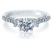 Renaissance V-956-R1.5 Diamond Engagement Ring Semi-Mount 0.40 ctw.