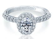 Renaissance V-957-OV1.8 Diamond Engagement Ring Semi-Mount 0.40 ctw.