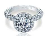 Renaissance V-957-R2.5 Diamond Engagement Ring Semi-Mount 0.85 ctw.