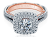 Venetian AFN-5073CU-2WR Diamond Engagement Semi-Mount 0.65ctw.