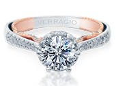 Insignia INS-7090R-2WR Diamond Engagement Ring Semi-Mount 0.40 ctw.