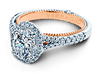Couture ENG-0424OV-2T Diamond Engagement Ring Semi-Mount 0.40 ctw.