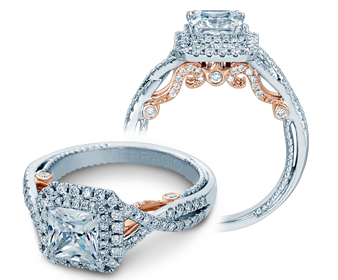 Insignia INS-7084P-2T Diamond Engagement Ring Semi-Mount 0.55 ctw.