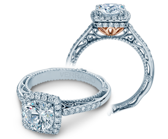 Venetian CL-AFN-5053CU Diamond Engagement Semi-Mount 0.35ctw. - Color 0.20C