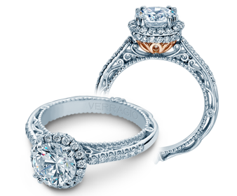 Venetian CL-AFN-5053R Diamond Engagement Semi-Mount 0.35ctw