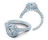 Renaissance V-903-R7-2T Diamond Engagement Ring Semi-Mount 0.50 ctw.