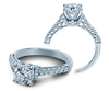 Renaissance V-906-R7-2T Diamond Engagement Ring Semi-Mount 0.45 ctw.
