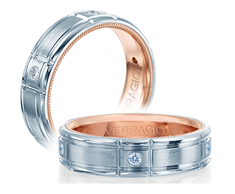 Verragio Diamond Mens Wedding Band 0.15 ctw. VWD-6928