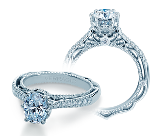 Venetian AFN-5077OV Diamond Engagement Semi-Mount 0.30ctw.