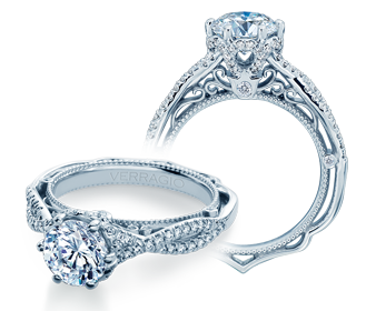 Venetian AFN-5078 Diamond Engagement Semi-Mount 0.40ctw.