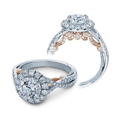 Insignia INS-7086R-2T Diamond Engagement Ring Semi-Mount 0.75 ctw.