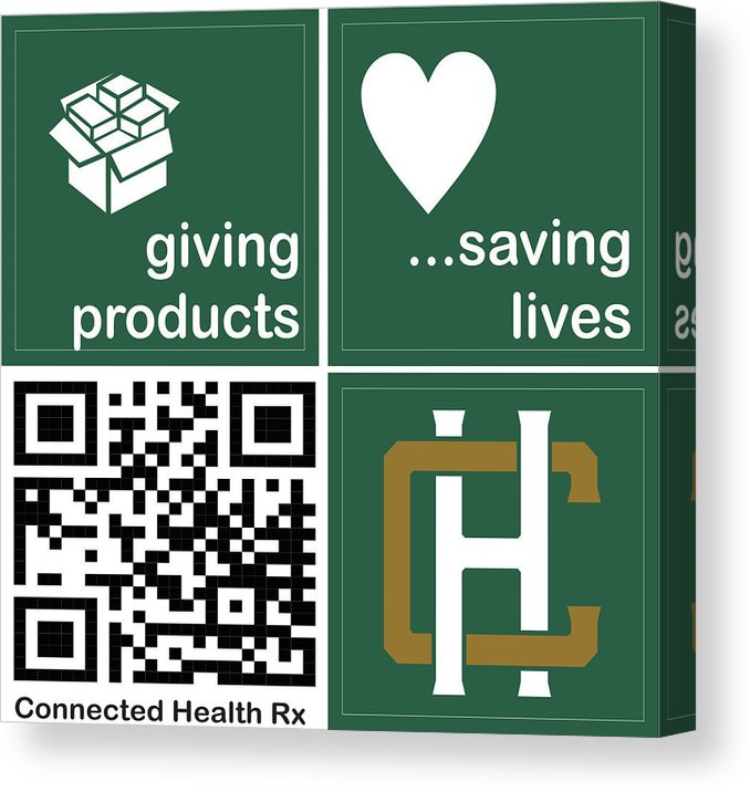 Connected Health Rx - Canvas Print