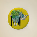 Girl Relaxing Badge, , Yellow Curtain , Yellow Curtain - Yellow Curtain