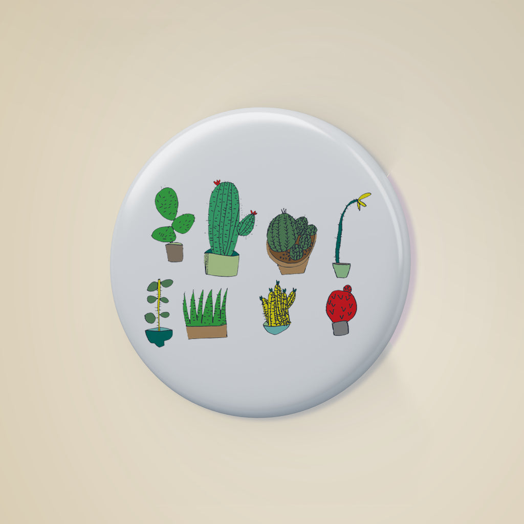 Cactus Badge, , Yellow Curtain, Yellow Curtain - Yellow Curtain