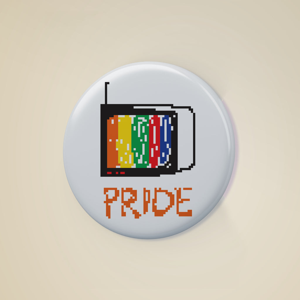Pride Badge, , Yellow Curtain, Yellow Curtain - Yellow Curtain