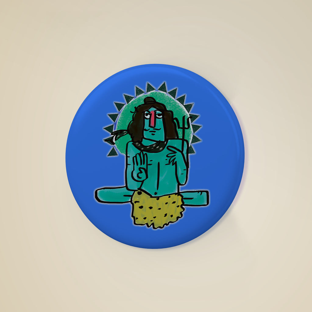 Shiva Badge, , Yellow Curtain , Yellow Curtain - Yellow Curtain