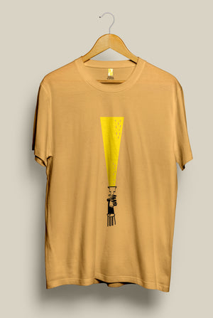 Torch, T-Shirt, Yellow Curtain , Yellow Curtain - Yellow Curtain