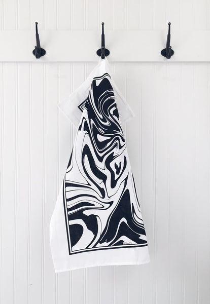 Ten and Co. Tea Towel - Black Marble