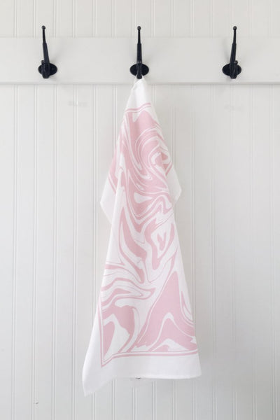 Ten and Co. Tea Towel - Blush Marble