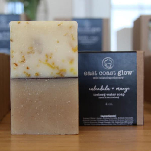 East Coast Glow - Wild Calendula & Orange Iceberg Water Cold Process Soap