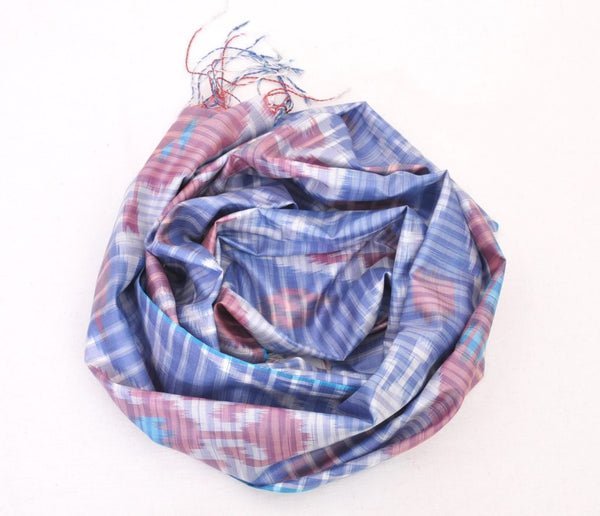 Mulberry Ikat Silk Scarf