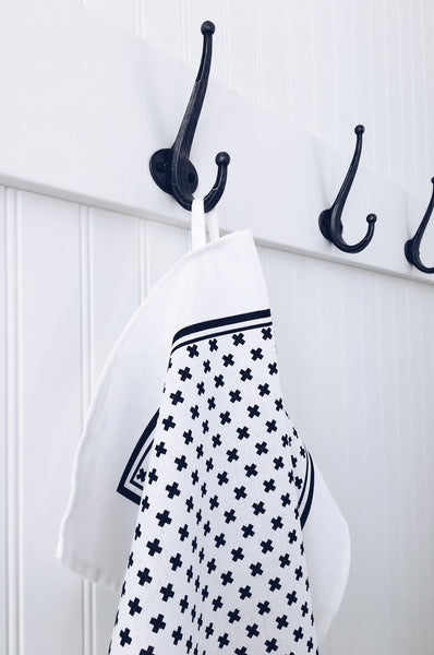 Ten and Co. Tea Towel - Tiny X Black & White