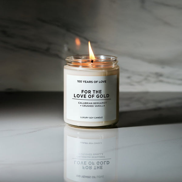 100 Years of Love - For the Love of Gold Luxury Soy Candle