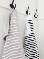 Ten & Co Tea Towel - Lines (Black/Grey)
