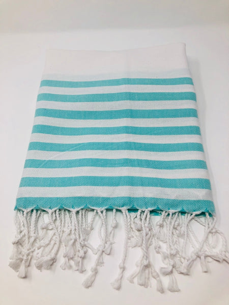 Turkish Peshtemal Towel - Snowhite (available in 4 colours)