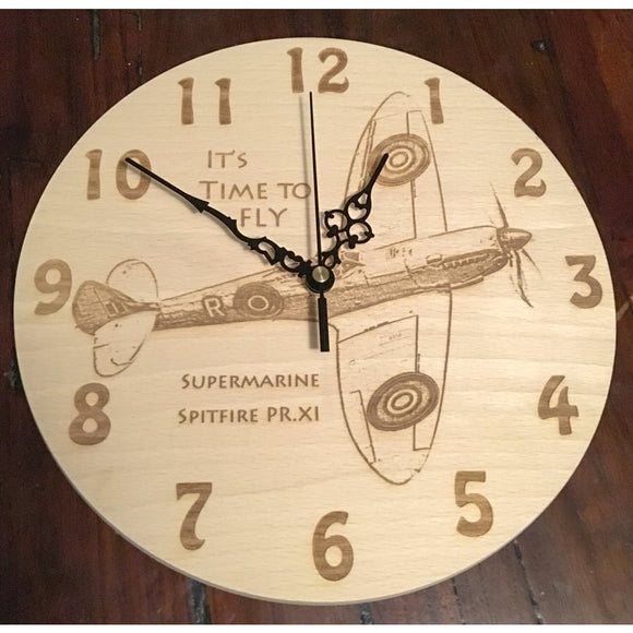 Aircraft Wall Clock Clocks Spitfire