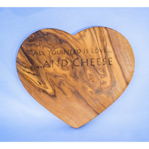 Heart Shaped Olive Wood Chopping Board Chopping Board