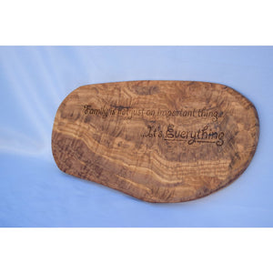 Large Solid Olive Wood Slice - Wall Art Chopping Board Chopping Board