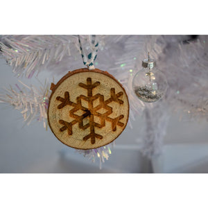 Snowflake Christmas Tree Decorations (Packs of 4) Christmas Tree Decorations Rustic