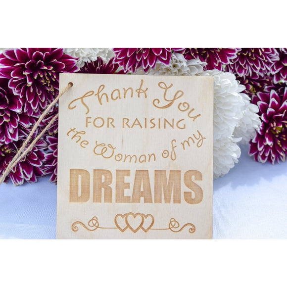 Thank You Wedding Bouquet Plaque wedding plaque