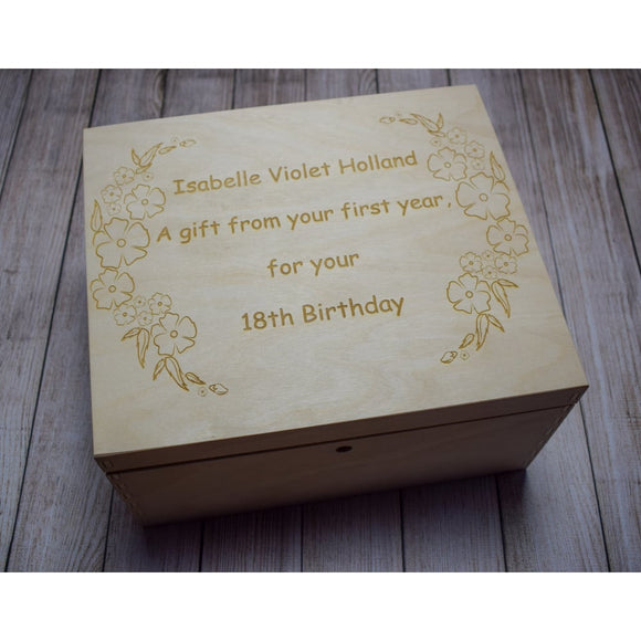 Time Capsule Memory Box - Newborn Gift - Christening Gift Time Capsule Box