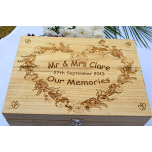 Wedding Memory Box Wedding memory box