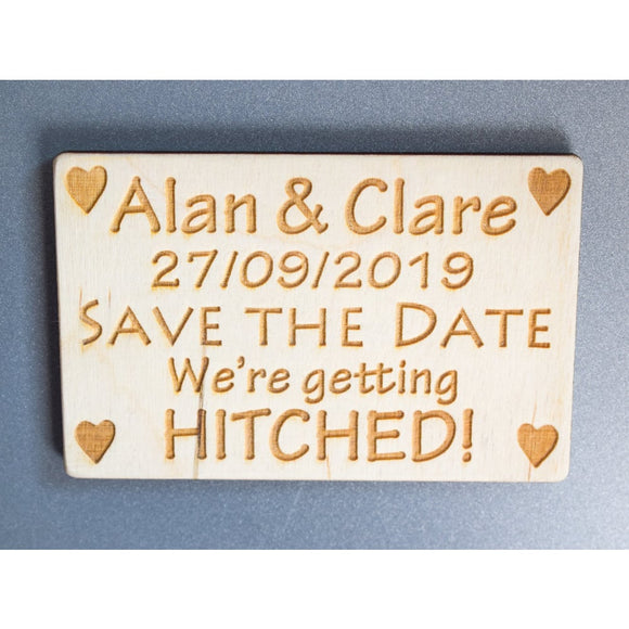 Wedding Save The Date Magnets Wedding save the date magnets Single Sample / Rectangular