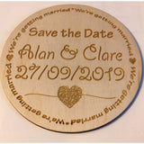 Wedding Save The Date Magnets Wedding save the date magnets Single Sample / Round