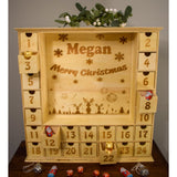 Wooden Advent Calendar with Personalisable Panel Advent Calendar Personalised Fireworks