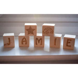 Wooden Childs Name Letter Blocks Name Blocks