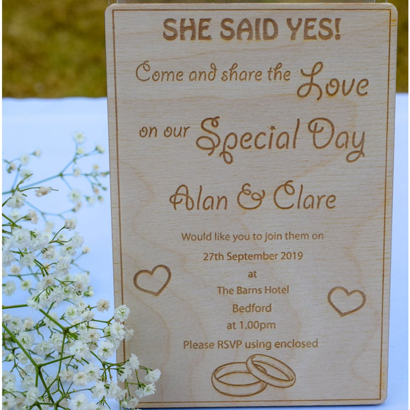 Wooden Wedding Invitation Wedding invitation