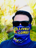 NEW Lively Lures Logo - Fishing Face Mask